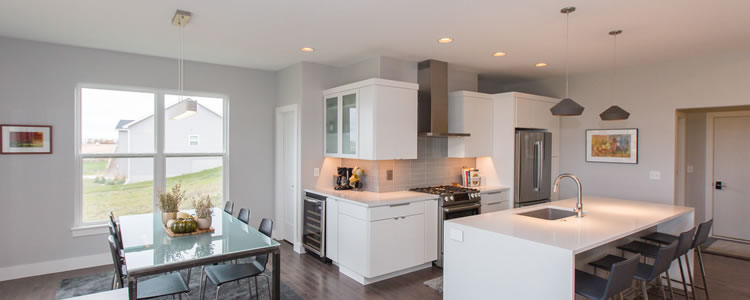 A highly personalized kitchen made by Skogman Homes