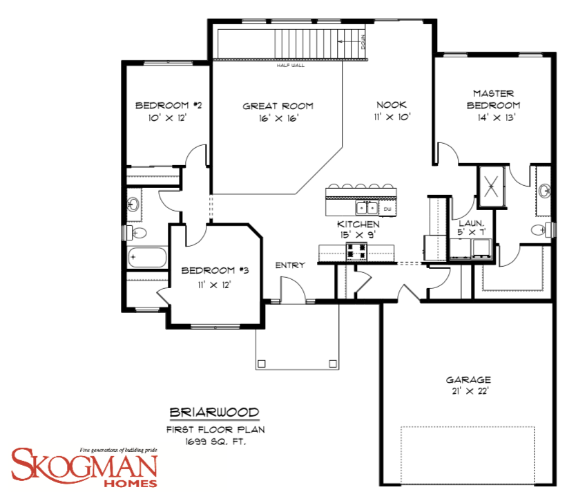 Briarwood A 3 Bedroom 2 Bath Home In Bowman Hills A New Home Community In Marion Ia 52302
